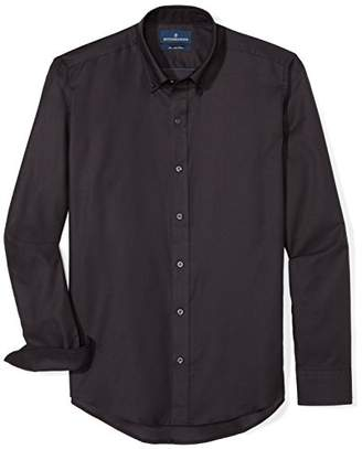 Buttoned Down Men's Slim Fit Supima Cotton Button-Collar Dress Casual Shirt