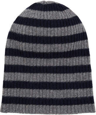 Portolano Cashmere Striped Rapper Hat