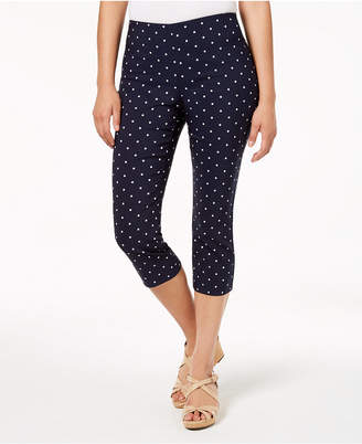 Charter Club Petite Tummy-Control Printed Pants, Created for Macy's