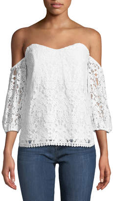 Bailey 44 Dream Come True Cold-Shoulder Lace Top