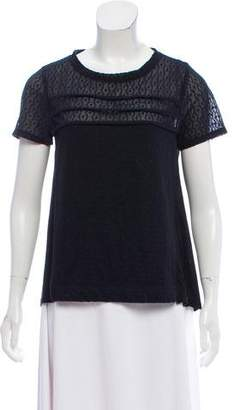 Marc by Marc Jacobs Ruched Short Sleeve Top