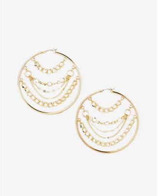 Express chain hoop earrings