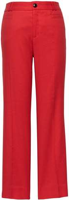 Banana Republic Logan Trouser-Fit Cropped Stretch Linen-Cotton Pant