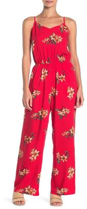 Mimichica Mimi Chica Printed V-Neck Jumpsuit