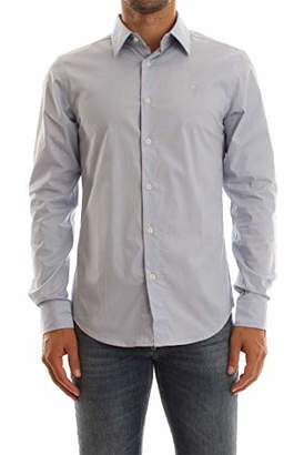 G Star Men's Core Super Slim Denim Shirt, White 110