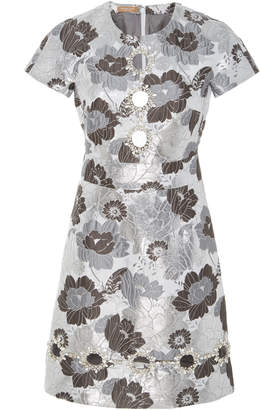 Michael Kors Embroidered Flower Button Dress
