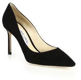 Jimmy Choo Romy 85 Suede Point Toe Pumps $595 thestylecure.com