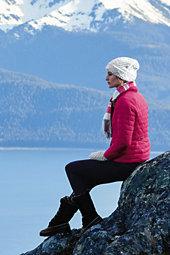 Lands' End Women's Lightweight Down Packable Jacket-Deep Teal $119 thestylecure.com