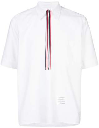 Thom Browne zipper placket shortsleeved shirt