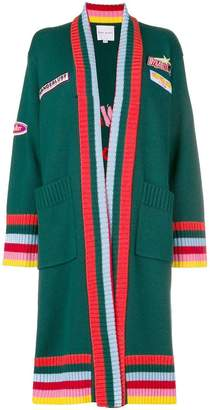 Mira Mikati striped coatigan
