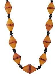 Lee Linda Johnson Women's Baltic Amber Beaded Necklace - Orange