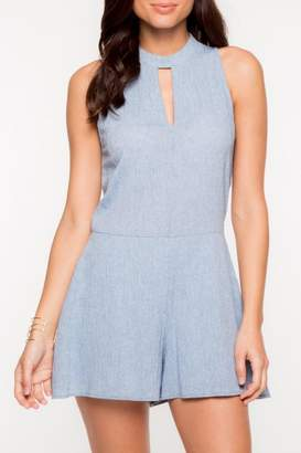 Everly Blue Kaity Romper $58 thestylecure.com