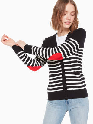 Kate Spade heart patch cardigan