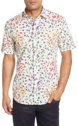 Bugatchi Shaped Fit Button-Up Sport Shirt