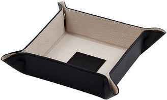 One Kings Lane Leather Valet Tray - Black