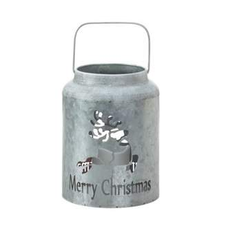 Christmas Collection REINDEER GALVANIZED LED CANDLE LANTERN