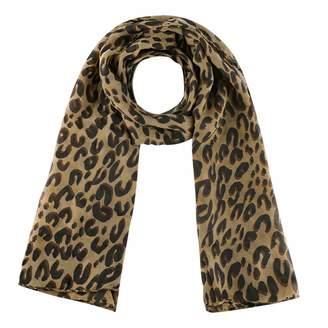 uxcell® Leopard Cheetah Print Chiffon Women Neck Wrap Stole Shawl Scarf