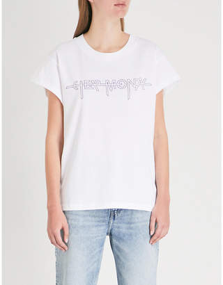 Cheap Monday Screen Hacker logo-print cotton-jersey T-shirt