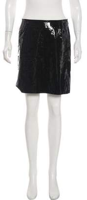 Chanel Patent Leather Mini Skirt