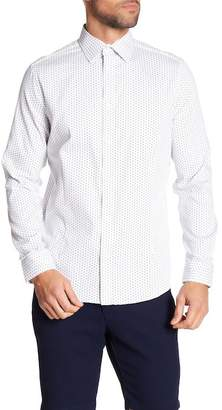 Karl Lagerfeld Printed Long Sleeve Modern Fit Shirt