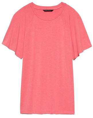 Banana Republic Soft Stretch Flutter-Sleeve T-Shirt
