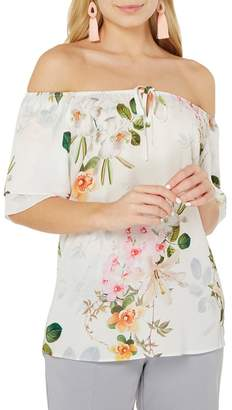 Dorothy Perkins Ivory Floral Gypsy Top