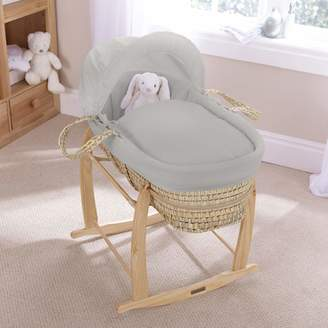 Clair De Lune Pure Baby Palm Moses Basket - Grey
