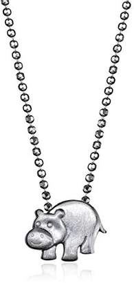 Alex Woo Little Animals Sterling Hippo Pendant Necklace