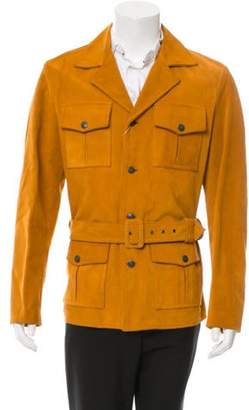 Maison Margiela Suede Belted Jacket w/ Tags brown Suede Belted Jacket w/ Tags