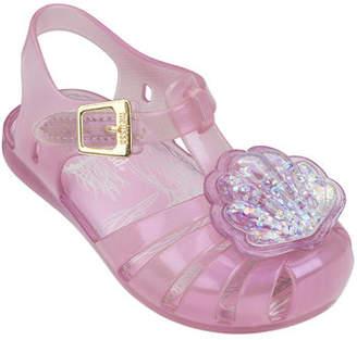 Mini Melissa Mini Aranha XII Seashell Cutout Sandal, Toddler