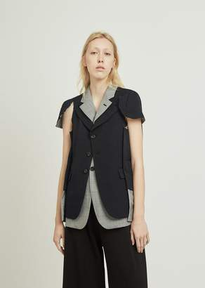 Comme des Garcons Wool Gabardine X Wool Glen Check Jacket