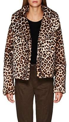 A.L.C. Women's Grant Leopard-Print Shearling Jacket