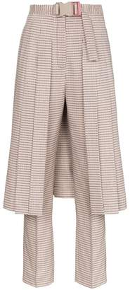 Fendi micro check skirt and wool trousers