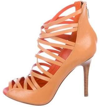 Rebecca Minkoff Leather Cage Sandals