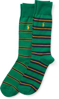 Ralph Lauren Striped Trouser Sock 2-Pack