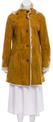 Fratelli Rossetti Hooded Leather Coat