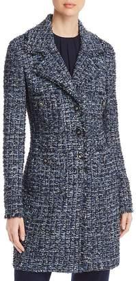 St. John Fringed Tweed Coat