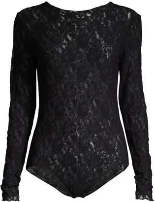 Hanky Panky Signature Lace Long-Sleeve Bodysuit