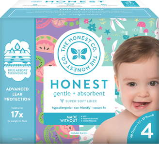 The Honest Company Bunnies/Sliced Fruit Size 4 Club Box Diapers