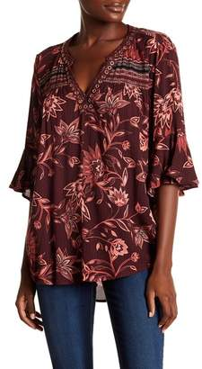 Democracy Floral 3\u002F4 Sleeve Blouse
