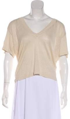 IRO Linen V-Neck T-Shirt