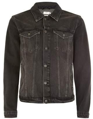 Topman Mens Black Denim Jacket