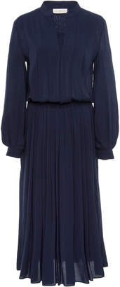 Tory Burch Long Sleeve Pleated Dress