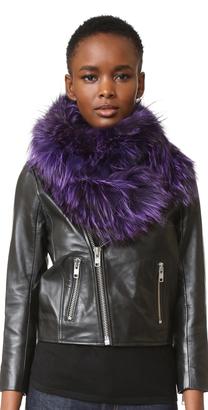 Adrienne Landau Knit Silver Fox Scarf $395 thestylecure.com