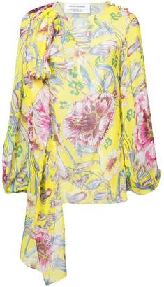 Prabal Gurung floral long-sleeve blouse