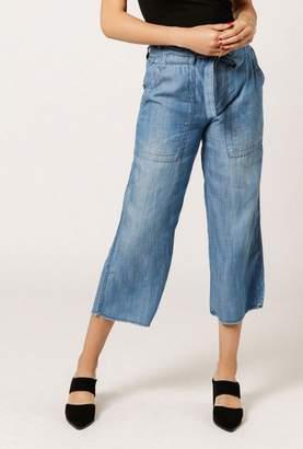 Azalea Tie Front Wide Ankle Pants