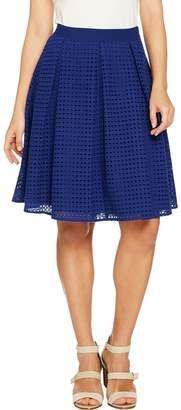 C. Wonder Eyelet Box Pleat Full Skirt