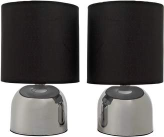 ColourMatch By Argos Pair of Touch Table Lamps
