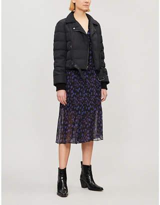 Diane von Furstenberg Buckled-waist biker jacket