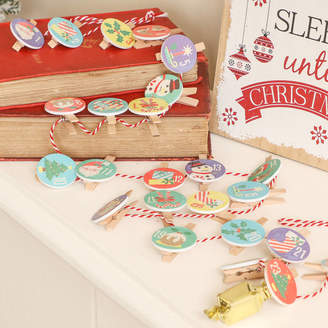 Dibor Garland Style Christmas Pegs Advent Calendar